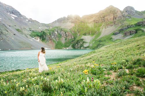 Bride at blue lake Silverton,C