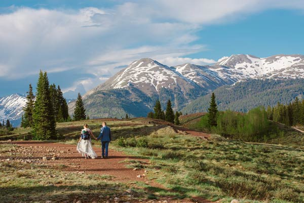 Bride and Groom elopement Silverton, CO